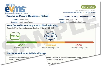 Purchase Quote Review